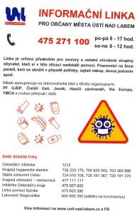 nabídka pomoci města Ústí nad Labem